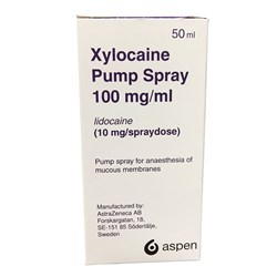 Xylocaine 10mg Pump Spray 10% Lidocaine 50ml