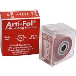 Arti-Fol BK25 Red 2-sided 8u 22mm x 20m In dispenser
