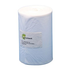 Biodegradable Bin Liners White 80L x30 W cm Pkt 50