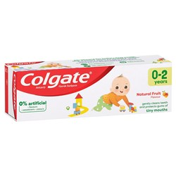 Colgate Kids 0-2 Natural Fruit Toothpaste 50ml pkt 12