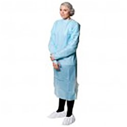 Polythene Isolation Gown with sleeves ea