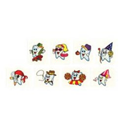 Tattoo Tooth Characters Assorted pkt 144