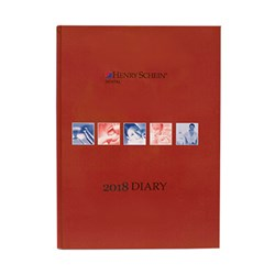 Henry Schein Appointment Diary Red 2018