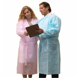 Henry Schein Disposable Cover Gown Blue L/M pkt 10