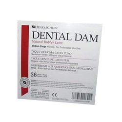 "Henry Schein Rubber Dam Latex Medium 6""x6"" box 36"