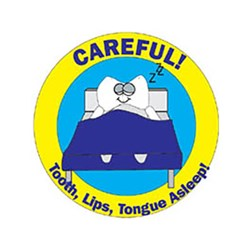 Childrens Stickers Careful Tooth in Bed Roll 100