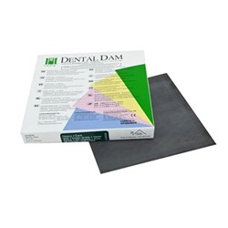 "Rubber Dam Dark Medium Squares 6x6"" 36 sheets"