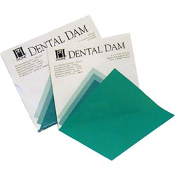 HYGENIC Dental Dam Latex Med Green 127x127mm Box 36 Sheets