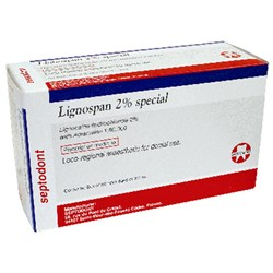 LIGNOSPAN  2% Special 2.2ml Box of 50 Cartridges