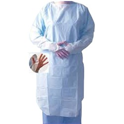 Thumbs Up Impervious Gown Regular Blue box 15
