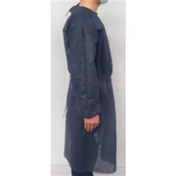 Impervious gown pk10 navy fluid resistant surgical gown