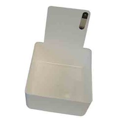 Plastic Work Pan White #