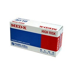 Med-X High Risk Gloves Powder Free Large Blue Box 50