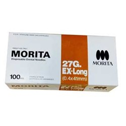Morita Needle 27G X/Long 41mm box of 100